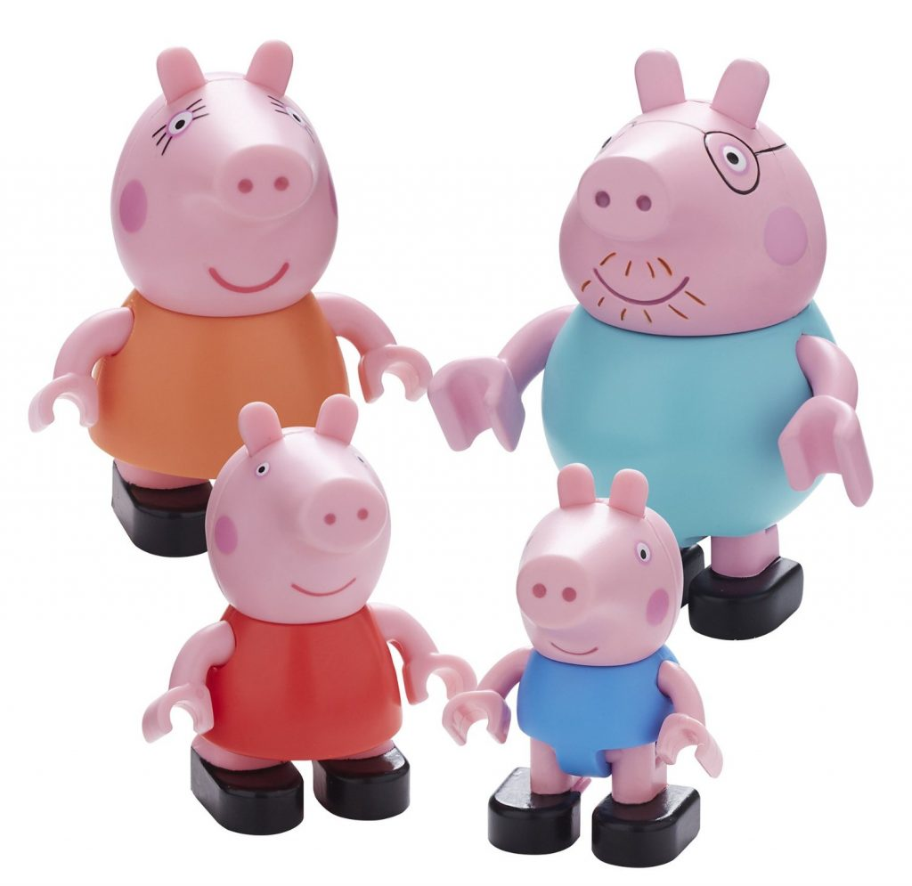 set-de-4-minifiguras-la-familia-pig-en-multiples-colores